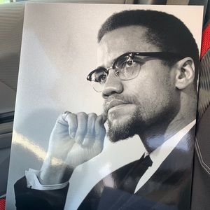 Laminated Malcolm X card board poster